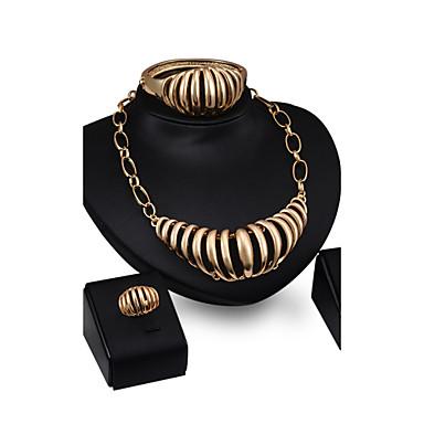 Damen Schmuck mit Aussage Hochzeit Party Aleación Haken 1 Paar Ohrringe 1 Armreif Halsketten