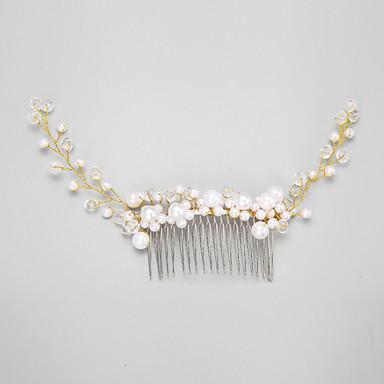 Femme Jeune bouquetière Cristal Alliage Imitation de perle Casque-Mariage Occasion spéciale Peigne 1 Pièce