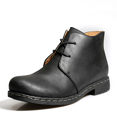 Ανδρικά υποδήματα Μπότες Καθημερινά Δέρμα Μαύρο / Καφέ