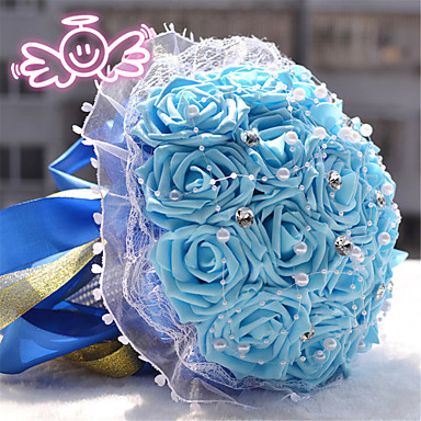 Round Roses Bouquets Wedding Flowers