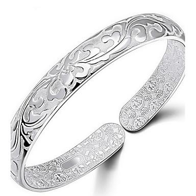 voordelige Bangle-Dames Bangles Bloem Dames Italiaans Dagelijks Sterling zilver Armband sieraden Zilver Voor Dagelijks Causaal Sport