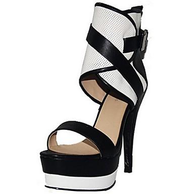 Γυναικεία παπούτσια - Πέδιλα - Γραφείο & Δουλειά / Φόρεμα / Πάρτι & Βραδινή Έξοδος - Τακούνι Στιλέτο - Ανοιχτή Μύτη - Δερματίνη -