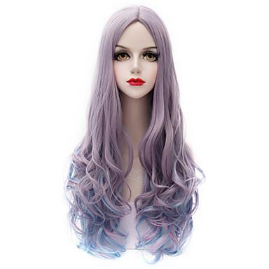 Искусственные волосы парики Лёгкие волны Карнавальный парик Парик для Хэллоуина Очень длинный Лиловый