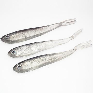 10 stk Myk Agn Sluk Myk Lokkemat Silikon Agn Kasting Ferskvannsfiskere Generelt fisking Lokke Fiske Bass Fiske Pêche à la carpe