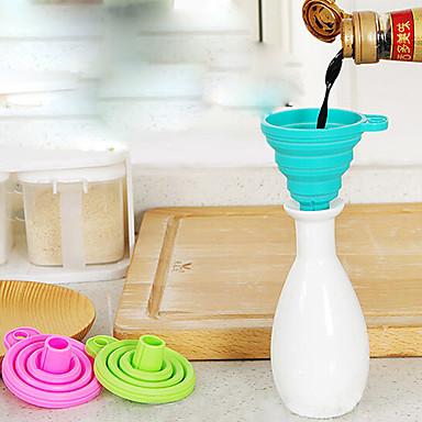 1Pc Portable Silicone Food Soft Funnel Random Color Kitchen  Supplies