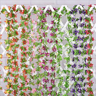 Ramo Seda Orquideas Guirlandas & Flor de Parede Flores artificiais