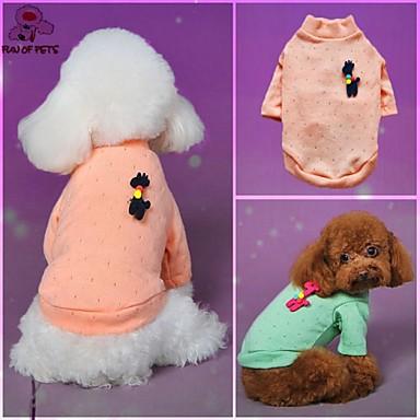 Cat Dog Sweatshirt Green Blue Pink Dog Clothes Winter Spring/Fall Polka Dots Casual/Daily