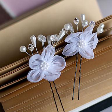 uusi han painos morsian hiukset valkoinen harso kukka u pieni haarukat 6kpl
