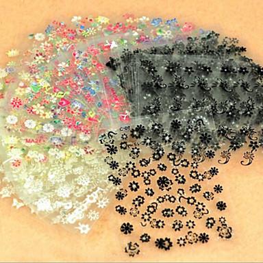 3D Nail Stickers - Muuta - Abstrakti - Sormi / Varvas - 9.5*7CM - 50