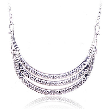 Europestyle Retro Three Layers Of Rods Strip-Type Alloy Necklace