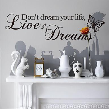 Dekorative Mur Klistermærker - Ord og sitater Wall Stickers Dyr / Still Life / Romantik Stue / Soverom / Spisestue / Kan fjernes