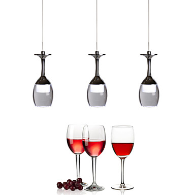 Luzes Pingente ,  Contemprâneo Cromado Característica for LED Estilo Mini MetalSala de Estar Quarto Sala de Jantar Quarto de