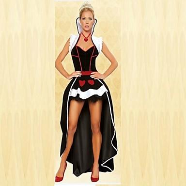 Cosplay-Asut Juhla-asu Prinsessa Satuteema Festivaali/loma Halloween-asut Patchwork Takki Toppi Hame Headwear KorvarengasHalloween