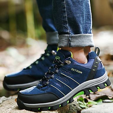 Erkek Ayakkabı Tüylü Bahar Yaz Sonbahar Kış Rahat Yenilikçi Dağ Yürüyüşü Bağcıklı Uyumluluk Donanma Koyu Yeşil