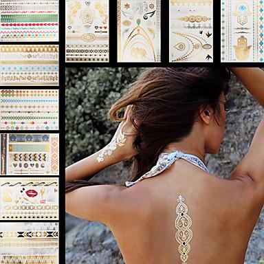 Dövme Etiketleri Mücevher Serileri Çiçek Serisi Totem Serisi DiğerleriNon Toxic Temalı Büyük Boyutlu Hawaiian Lower Back Waterproof