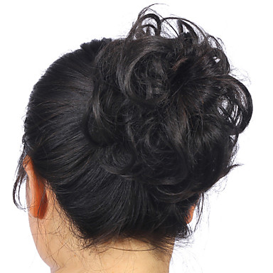 Hot Stylish Pony Tail Women Clip in on Hair Bun Hairpiece Synthetic Hair Extension Scrunchie