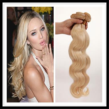 Mongoliskt hår Kroppsvågor Human Hår vävar 3 paket Hårförlängning av äkta hår Människohår förlängningar