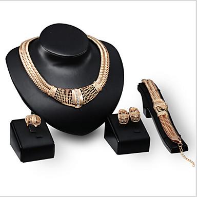 Damen Strass Schmuck-Set Einschließen Haken Ohrringe Halsketten Armbänder - Strass Aleación Für Hochzeit Party Besondere Anlässe