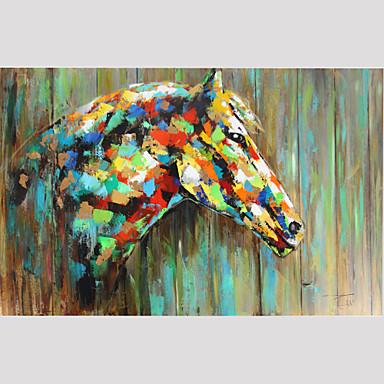 Pintados à mão Animal Fantasia Horizontal Panorâmica,Moderno 1 Painel Tela Pintura a Óleo For Decoração para casa