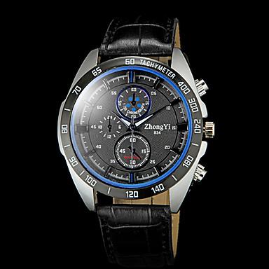 Homens Relógio de Pulso Relógio Casual PU Banda Amuleto Preta