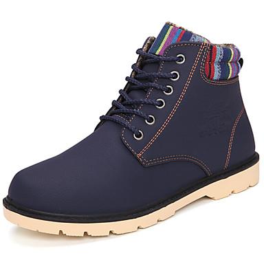 Férfi cipő Bőrutánzat Tavasz Ősz Tél Kényelmes Újdonság Görkorcsolya cipők Bokacsizmák Fűző Kompatibilitás Sport Hétköznapi Fekete Sárga