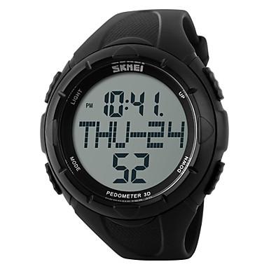 SKMEI Men's Sport Watch / Wrist Watch / Digital Watch Alarm / Calendar / date / day / Chronograph Rubber Band Charm Black / Green / Water Resistant / Water Proof / LCD