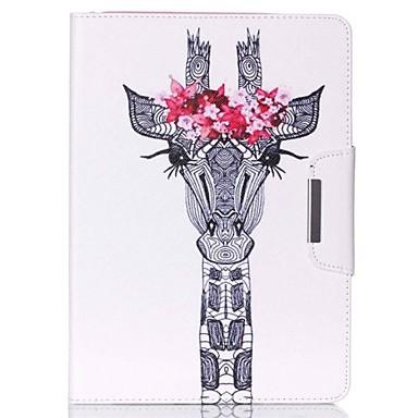 Pouzdro Uyumluluk iPad Mini 4 iPad Mini 3/2/1 iPad 4/3/2 iPad Air 2 iPad Air Satandlı Temalı Tam Kaplama Kılıf Çiçek PU Deri için iPad