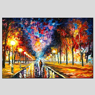 Pintados à mão Paisagem Horizontal, Estilo Europeu Modern Tela de pintura Pintura a Óleo Decoração para casa 1 Painel