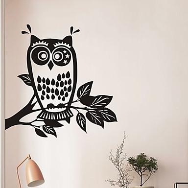 Animals Wall Stickers Plane Wall Stickers OWl PVC Wall Stickers W60cm x L60cm (W23.6'' x L23.6'')