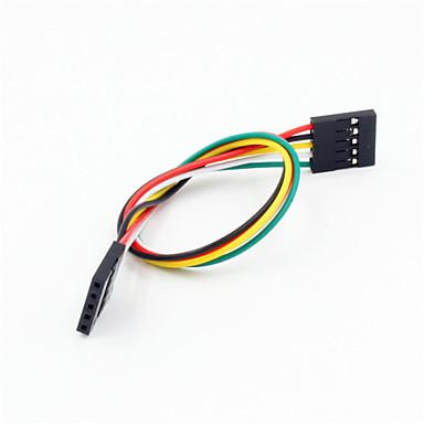 dupont 5-pin 2.54mm hunn til hunn skjøteledningskabel for arduino- (20cm)