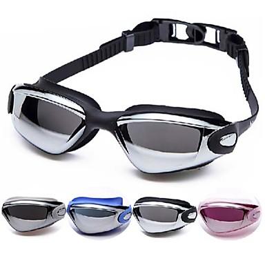 Svømmebriller Vanntett / Anti-Tåke / Justerbar Størrelse Acetat Akryl Svart / Sølv Sølv