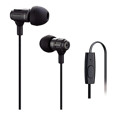 In Ear Wired Headphones Dynamic Plastic Mobile Phone Earphone with Microphone with Volume Control HIFI Headset