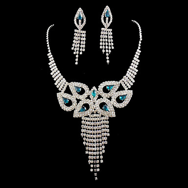 Women's Rhinestone Alloy Wedding Party Special Occasion Anniversary Birthday Engagement Gift Earrings Necklaces Costume Jewelry