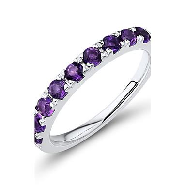 Vallomás gyűrűk Karikagyűrűk Kristály Ezüst Kristály Line Shape Bíbor Ékszerek Esküvő Parti Napi Hétköznapi 1db