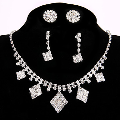 Women's Luxury Rhinestone Chain Necklace - Luxury Handmade White Necklace For Wedding Party Engagement