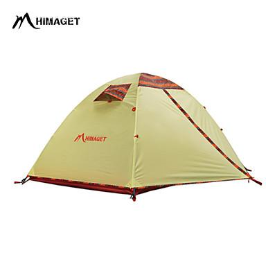 HIMAGET 2 Pessoas Tenda Duplo Barraca de acampamento Um Quarto Manter Quente Á Prova de Humidade Bem Ventilado Rapidez Prova-de-Água A