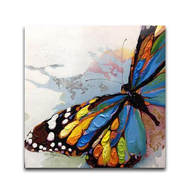 Hang malte oljemaleri Håndmalte - Dyr Moderne Lerret / Stretched Canvas