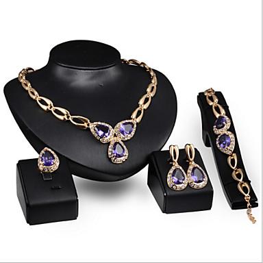 Conjunto de jóias Mulheres Aniversário / Casamento / Noivado / Presente / Festa / Diário / Ocasião Especial Conjuntos de JoalhariaLiga /