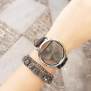 Kadın's Quartz Bilezik Saat Kronograf PU Bant İhtişam Moda Siyah Beyaz