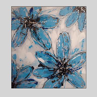 Kézzel festett Landscape / Virágos / BotanikusSTÍLUS Egy elem Vászon Hang festett olajfestmény For lakberendezési