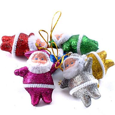 6 PCS 5*3CM Father Christmas Christmas Trees Decoration