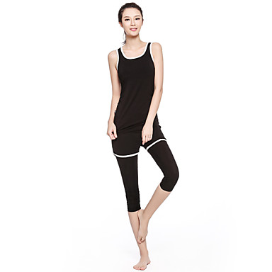 Women's Tracksuit Sleeveless Quick Dry Breathable Compression Lightweight Materials Tank Clothing Suits for Yoga Exercise & Fitness