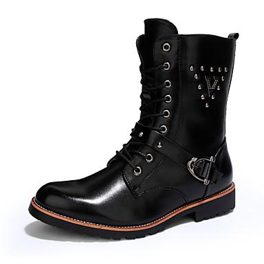 Erkek Rahat Yenilikçi Patenli Ayakkabılar Kovboy / Western Çizmeleri Yapay Deri Bahar Yaz Sonbahar Kış Atletik Günlük Parti ve Gece