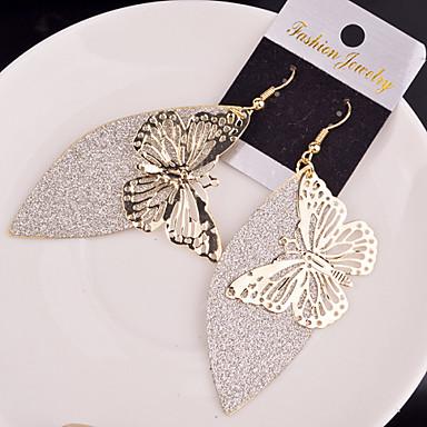 Függők Ötvözet Animal Shape Pillangó Ezüst Aranyozott Ékszerek Mert Esküvő Parti Napi Hétköznapi 2pcs