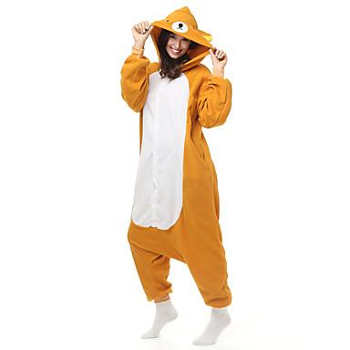 Взрослые енот Медведи Цельные пижамы Флис Синтетика Коричневый Косплей Для  Муж. и жен. Нижнее 6a0e5465b9137
