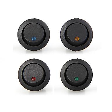 20 mini kerek többszínű LED rocker mutató kapcsoló 3 pin-off 12V DC
