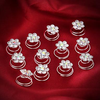 alaşım Çiçek - Başlık / Saç tokası 1pc Düğün / Özel Anlar Başlık