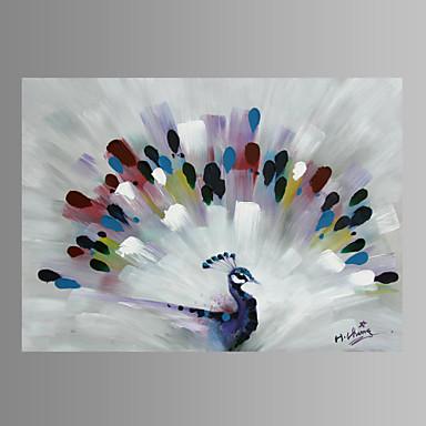 Kézzel festett Állat Vízszintes,Modern Egy elem Vászon Hang festett olajfestmény For lakberendezési