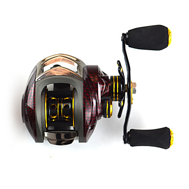Baitcasting Reel 6.3:1 Gear Ratio+14 Ball Bearings Right-handed Sea Fishing Bait Casting Ice Fishing Jigging Fishing Freshwater Fishing