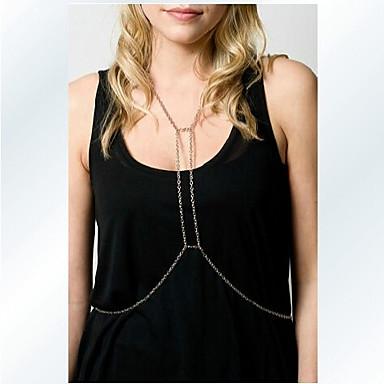 Mulheres Bijuteria de Corpo Corrente de Barriga Cadeia corpo / Cadeia de barriga Sensual Estilo simples Fashion Europeu Cristal Jóias Para